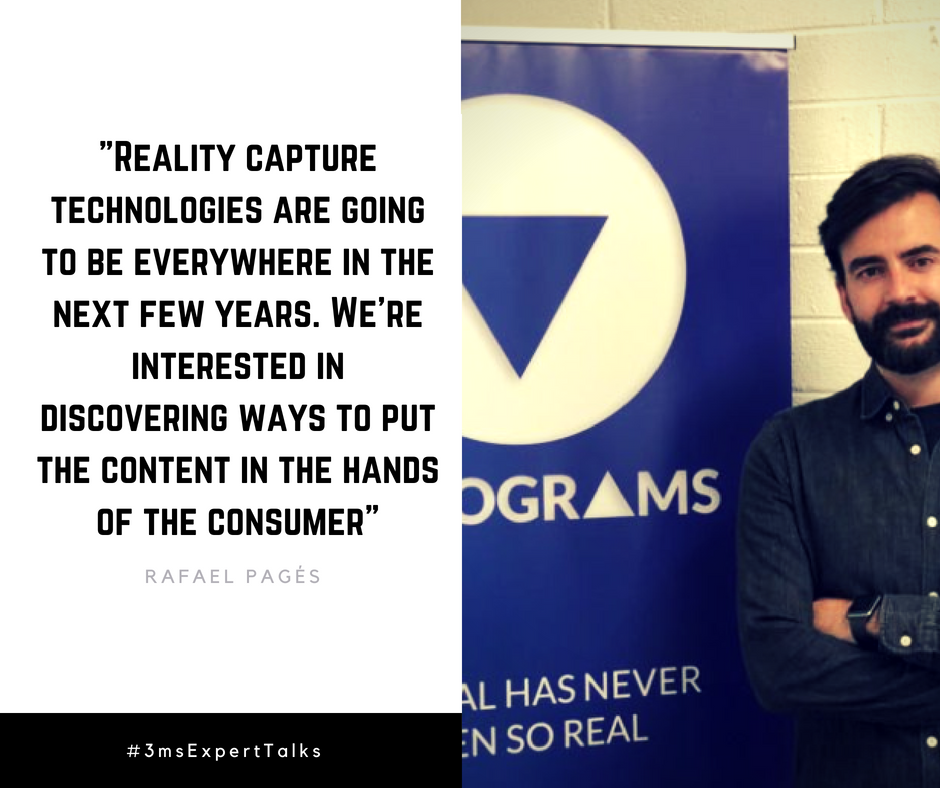 Quote about Volumetric Video by co-founder of Volograms Rafael Pages
