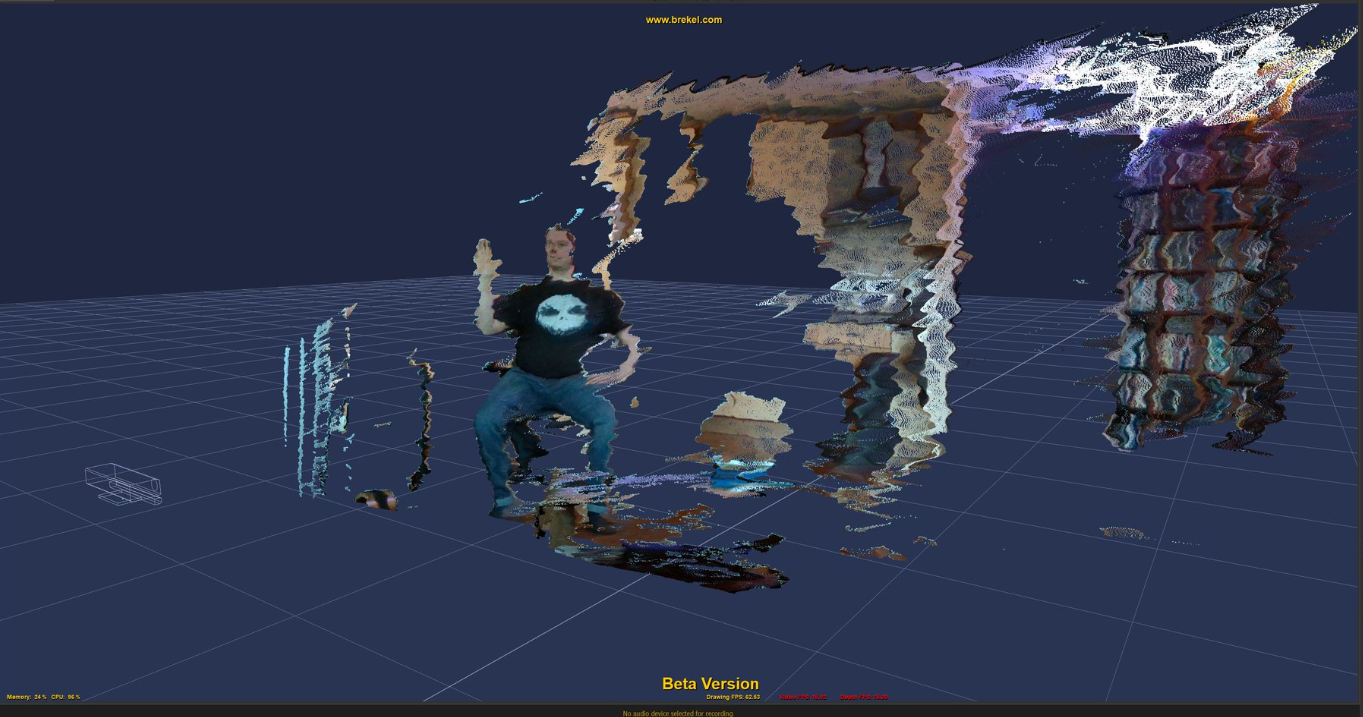 Brekel's PointCloud Beta with Intel RealSenseSDK D415/D435 support for Volumetric Capture